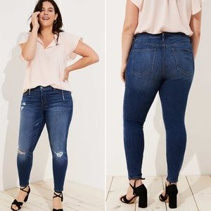 LOFT Plus Destructed Modern Skinny Jeans 22
